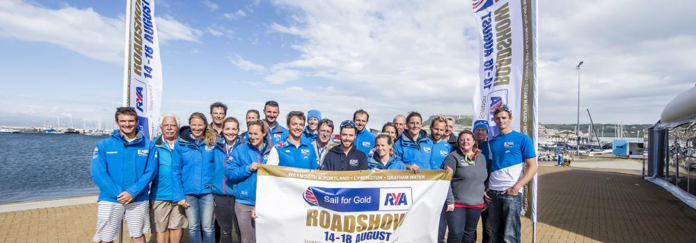 Staff from the Host Clubs with British Sailing Team Members © Jesus Renedo