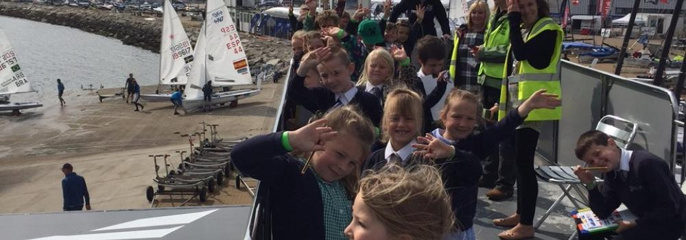 IPACA pupils enjoying ISAF Sailing World Cup
