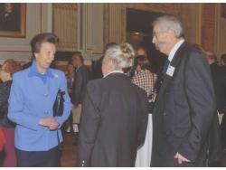 Frank & Jeny Newton talking to HRH The Princess Royal © Jeny Newton