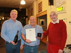 Frank Newton Presents Alun Morgan his Outstanding Contribution RYA Volunteering Award with Peter Allam © Trudy Davies