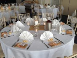 Table Setting for a Wedding in Spinnakers