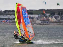 Two Children Windsurfing