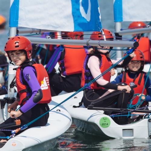 Children Sailing