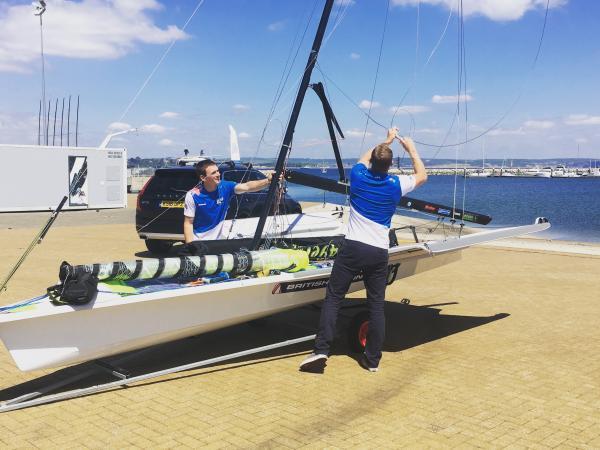 49er Team Dylan Fletcher & Alain Sign © British Sailing Team