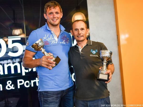Andy Smith (right) and Tim Needham with UK trophy © Christophe Favreau