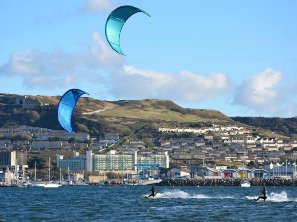Kiteboarding in Portland Harbour (c) RYA