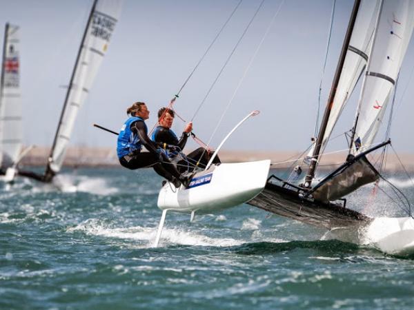 Nacra 17 Sailing