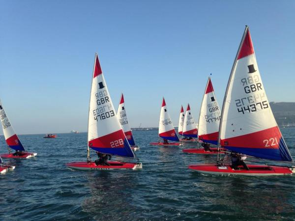 Toppers in Portland Harbour